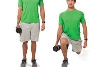 Off-set reverse lunge