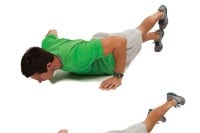 Push-ups with feet stacked