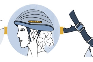 Follow the 2-4-1 rule to ensure your bicycle helmet fits properly