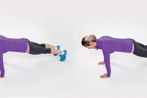 Plank with tap outs