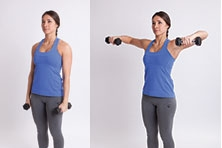 Bent-Arm Dumbell Lateral Raise