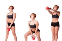 Dumbbell Swing and Shuffle