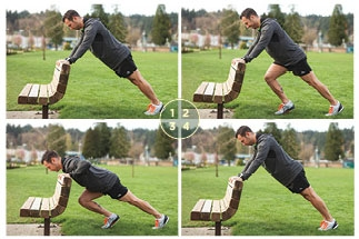 Alternating Lunge and Push-up