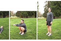 Squat Roll-ups