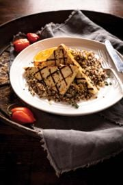 Grilled Chili Tofu Steaks with Quinoa