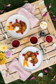 Grilled French Toast with Vanilla Scented Yogurt