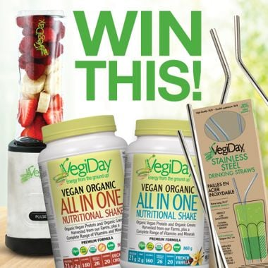 Win a VegiDay All in One Protein Prize Pack!