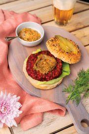 Beet Falafel Burgers with Dilly Tahini Sauce