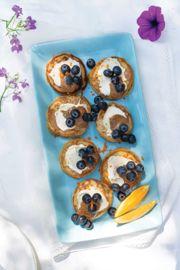 Blueberry Cheesecake Sandwich Bites