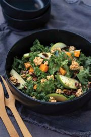Maple Butternut Apple Salad with Granola Croutons