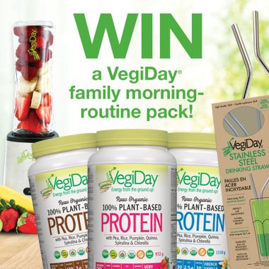 Win a VegiDay® Family Morning Routine Pack!