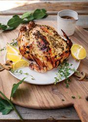 Dunkel Beer-Marinated Rotisserie-Style Chicken