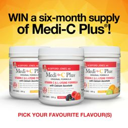 Win a 6-Month Supply of Medi-C Plus®!