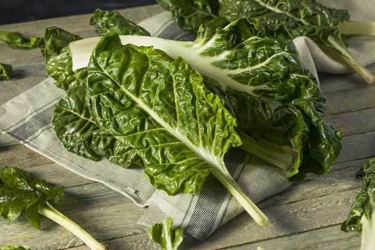 Raw Organic Green Swiss Chard Ready to Cook