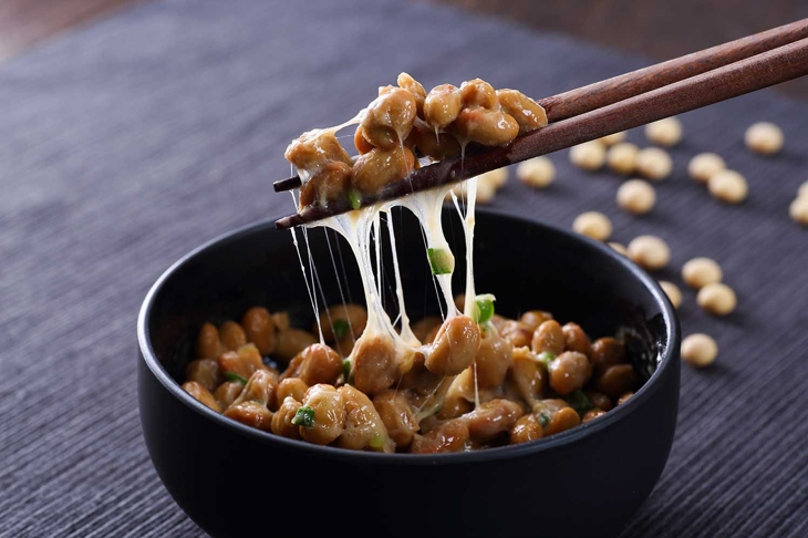 Japanese Natto on wooden table