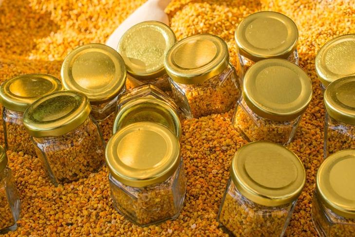Pollen as healthy organic raw diet food  in jar