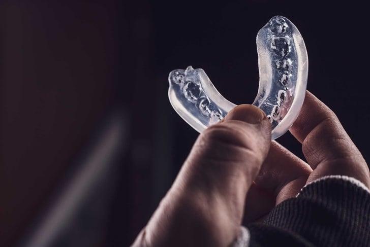 boxer teeth protection. mouthguard